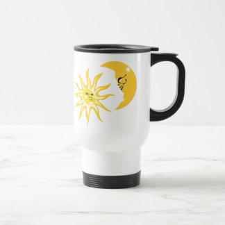 Happy Sun and Moon Travel Mug