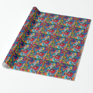 HAPPY SUN AND MOON WRAPPING PAPER