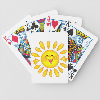 happy sun bicycle playing cards
