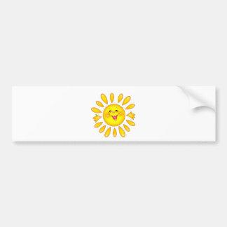 happy sun bumper sticker