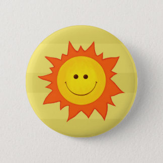 Happy sun button