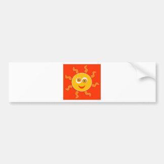 Happy Sun Cartoon Bumper Sticker