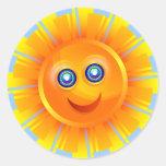 Happy Sun Classic Round Sticker