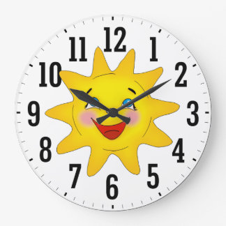Happy Sun | Cool Gifts Large Clock