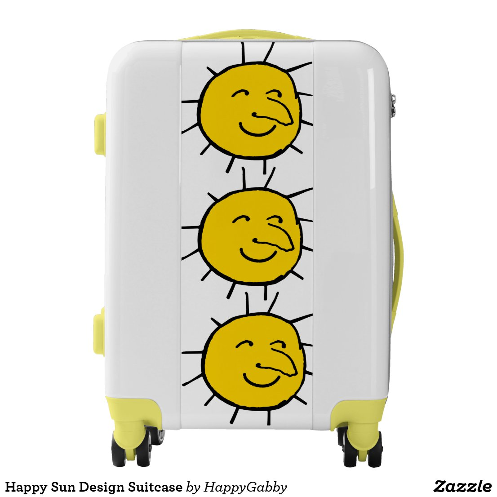 Yellow suitcases