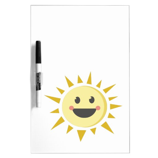 Happy Sun Dry Erase Whiteboard