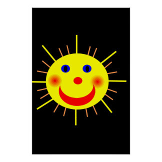 Happy Sun Face Poster