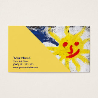 Happy Sun face smiling Business Card