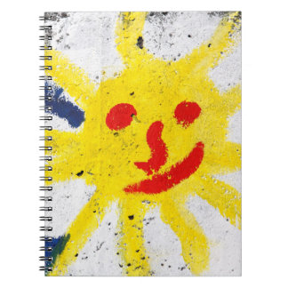 Happy Sun face smiling Notebook