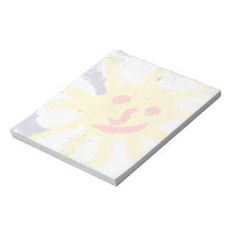 Happy Sun face smiling Scratch Pads