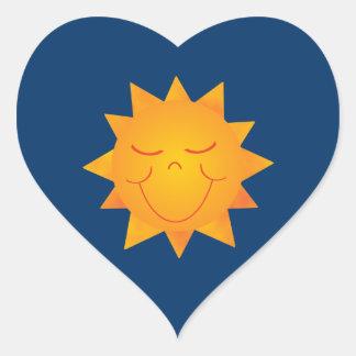 Happy Sun Heart Sticker