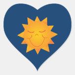 Happy Sun Heart Stickers