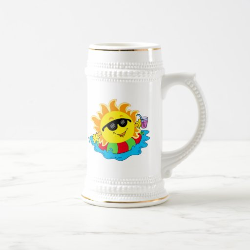 Happy Sun in the Pool 18 Oz Beer Stein