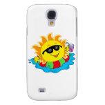 Happy Sun in the Pool Samsung Galaxy S4 Case