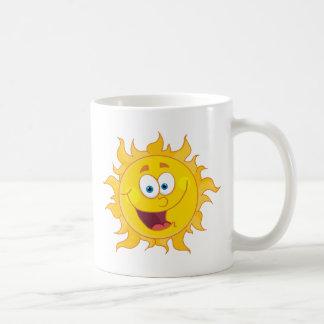 Happy Sun Mascot Cartoon Character Coffee Mug