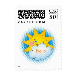 Happy sun - Postage template