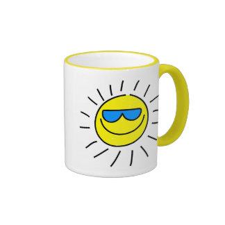 Happy Sun Ringer Coffee Mug