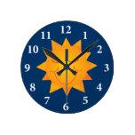 Happy Sun Round Wall Clock