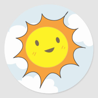 Happy Sun Stickers