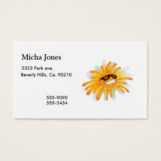 Happy Sun Wearing Shades Business Card
