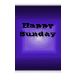 Happy Sunday Purple Color Code Poster Day of Week