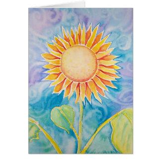 Happy Sunflower Card ~ Blank by Molly Harrison