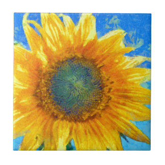 Happy Sunflower Ceramic Tile