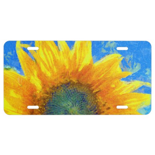 Happy Sunflower License Plate