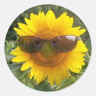Happy Sunflower with sunglasses sticker
