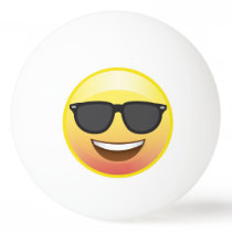 Happy Sunglasses Emoji Face Ping Pong Ball