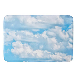 Happy Sunny Clouds All Over Print Background Bathroom Mat