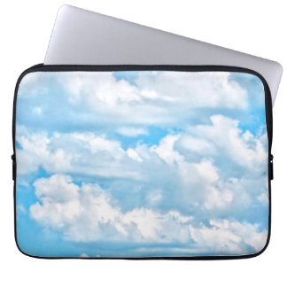 Happy Sunny Clouds Background Laptop Sleeve