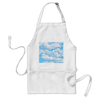 Happy Sunny Clouds Background Scenery Adult Apron