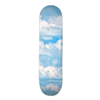 Happy Sunny Clouds Background Scenery Skateboard Deck