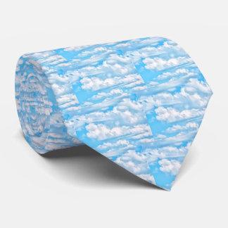 Happy Sunny Clouds Light Blue Sky Background Tie