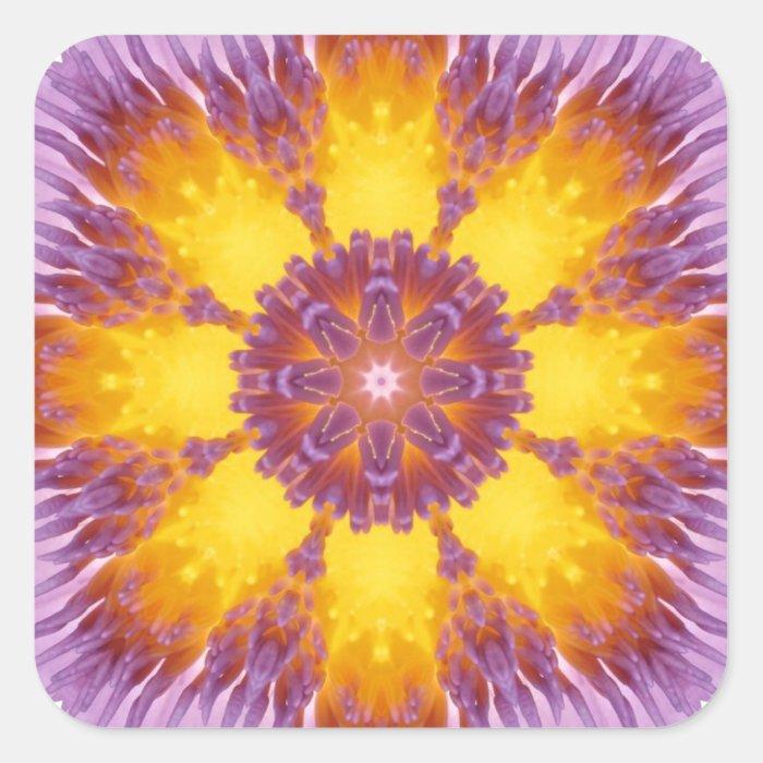 Happy Sunny Mandala! Square Sticker