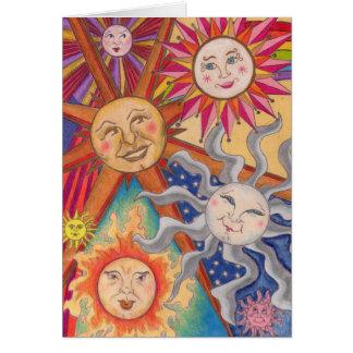 Happy suns card