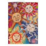 Happy suns greeting card