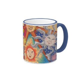 Happy suns ringer coffee mug