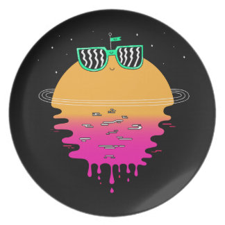 happy sunset melamine plate