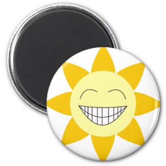 Happy Sunshine 2 Inch Round Magnet