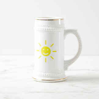 Happy Sunshine Beer Stein