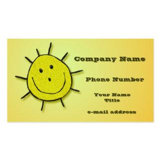 Happy sunshine business cards