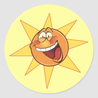 Happy Sunshine Classic Round Sticker