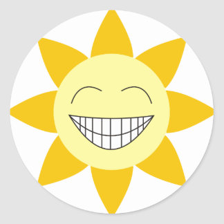 Happy Sunshine Classic Round Sticker