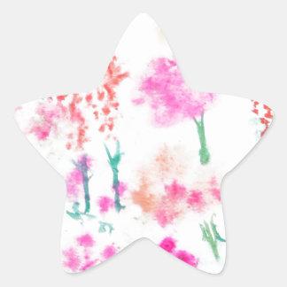 Happy Sunshine Flower Garden Flowers Gifts Star Sticker