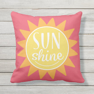 Happy Sunshine | Outdoor Pillow