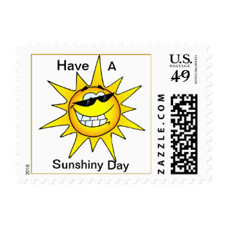 Happy Sunshine Sunshiny Day Postage