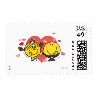 Happy Sunshine Wedding Postage Stamp