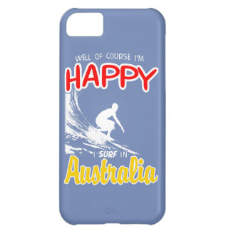 Happy Surfer AUSTRALIA (Wht) Cover For iPhone 5C